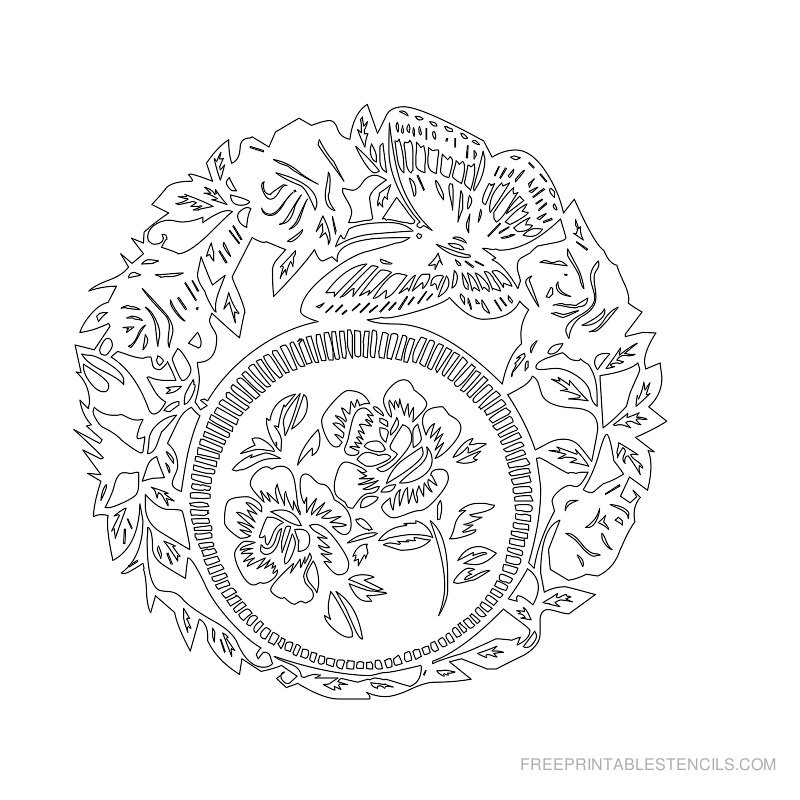 image regarding Free Printable Flower Stencils identified as Stencils Totally free Drawing at  Absolutely free for particular person
