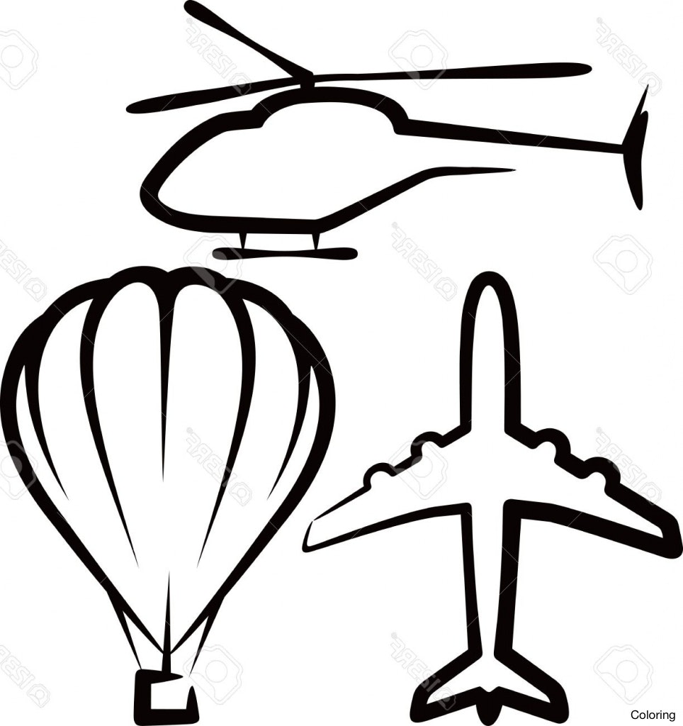 964x1024 Simple Airplane Drawing Illustration With Air Transport Royalty