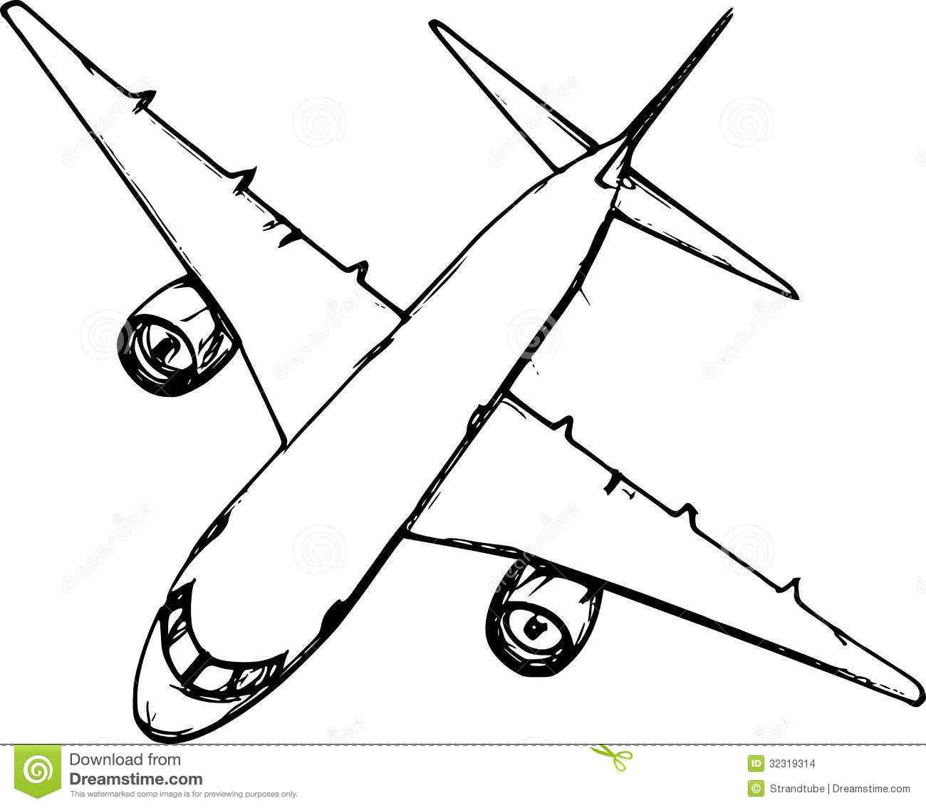 1300x1134 Simple Airplane Outline Drawings Sketch Coloring Page, Simple