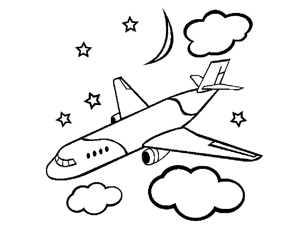1024x768 Airplane Coloring Pages Simple New Plane Coloring Pages