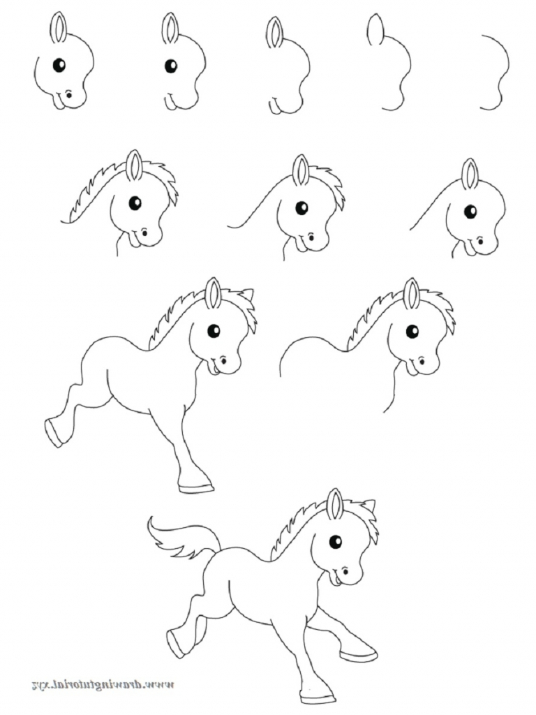768x1024 Drawing Pictures Of Animals Step By Step Animal Drawings Step Step