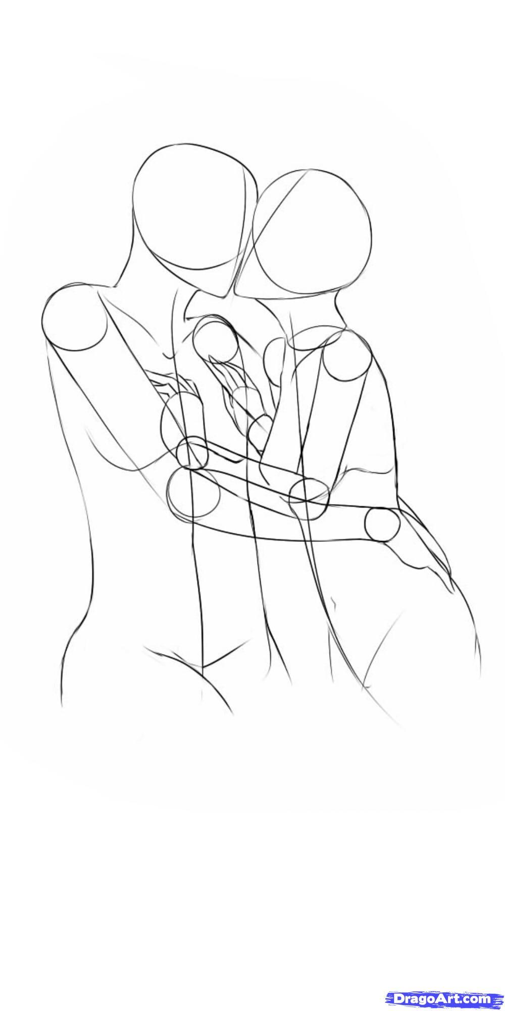 1000x2000 Drawn Kissing Anime Draw