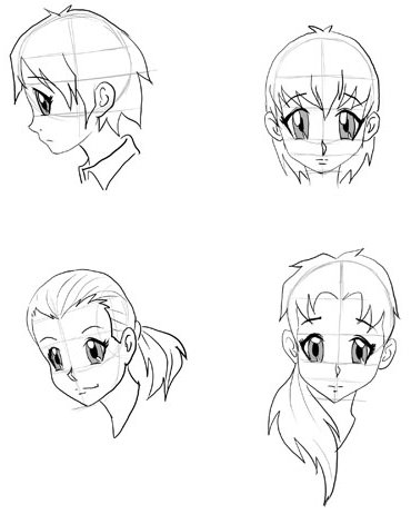 370x462 Draw Anime Faces Amp Heads Drawing Manga Faces Step By Step