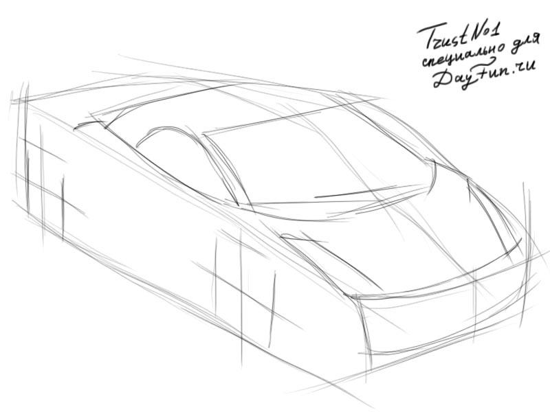 800x600 How To Draw Lamborghini Step By Step