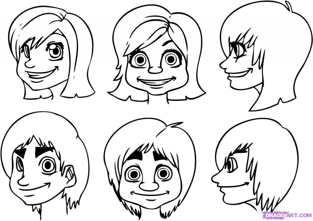Step By Step Cartoon Drawing At Getdrawings Free Download