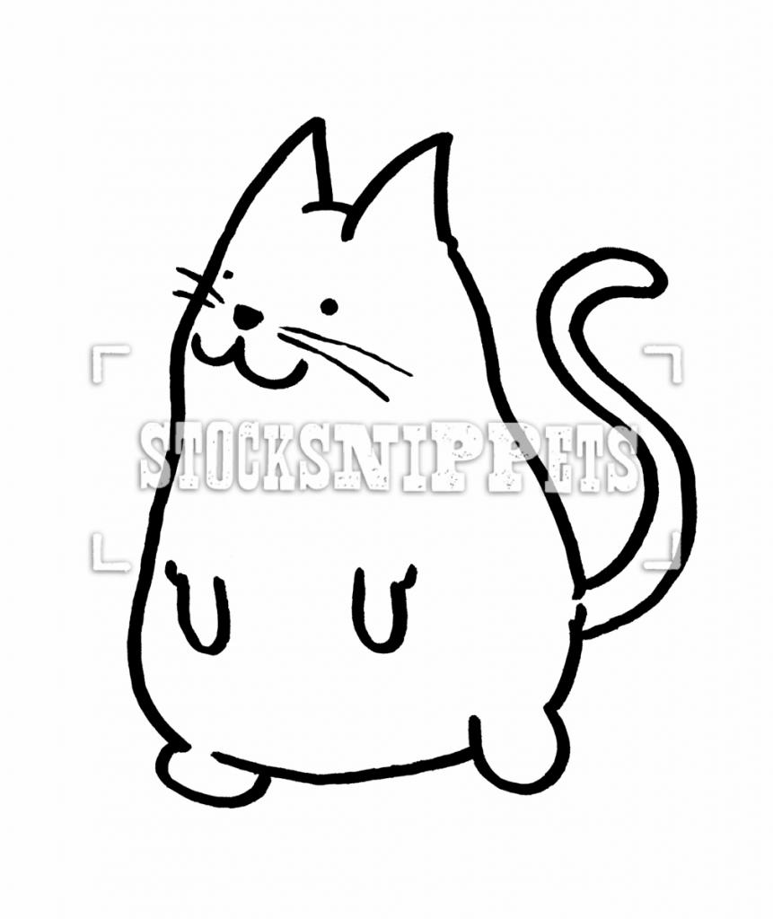 861x1024 Simple Cat Drawing Cute Cat Drawings Related Keywords Amp