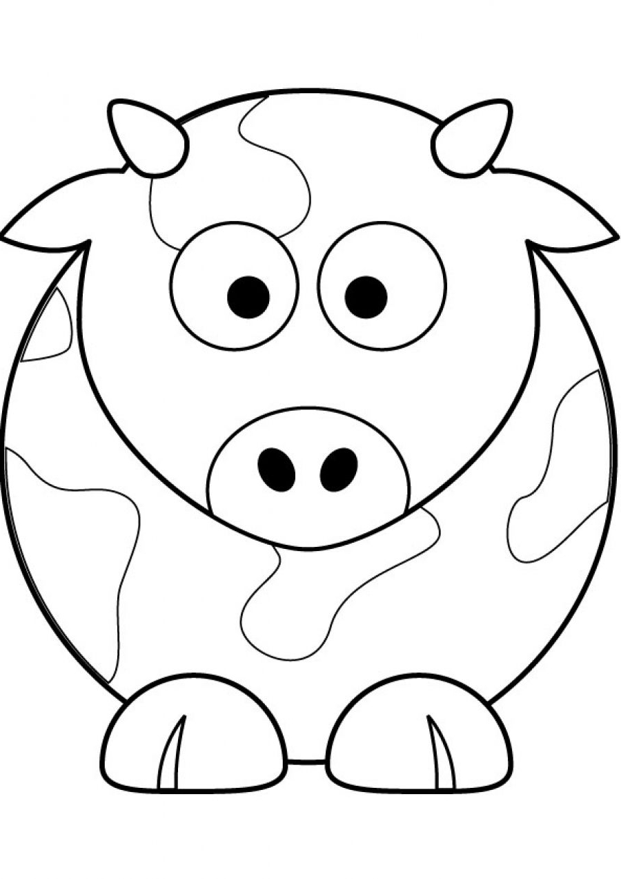 Step By Step Cow Drawing