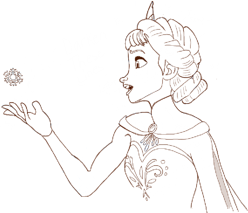 853x732 How To Draw Princess Elsa From Frozen Step By Step Tutorial Diy