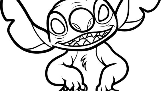 570x320 Cartoon Characters Drawings How To Draw Stitch Step Step Disney