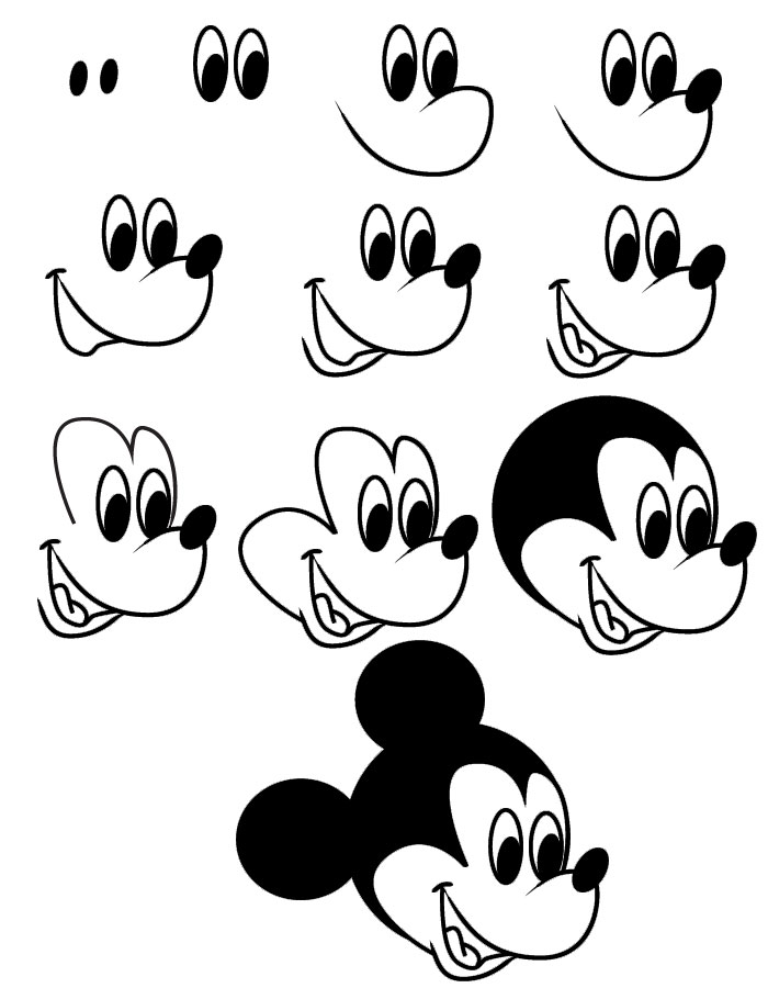 Step By Step Disney Drawing At Getdrawings Com Free For Personal