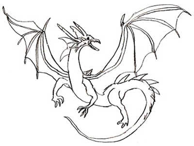 400x302 how to draw a dragon - Dragons To Color