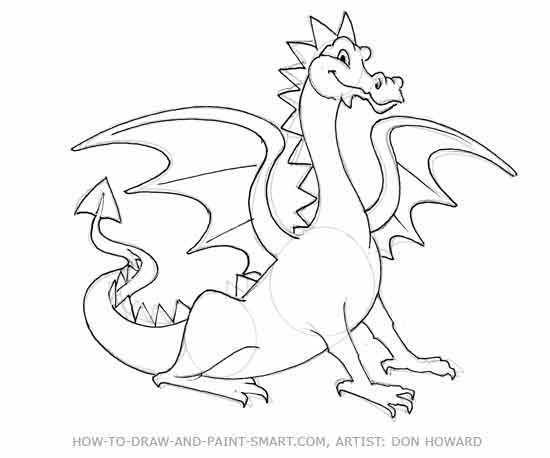 550x458 Coloring Pages Simple To Draw Dragons Drawing Of A Dragon How