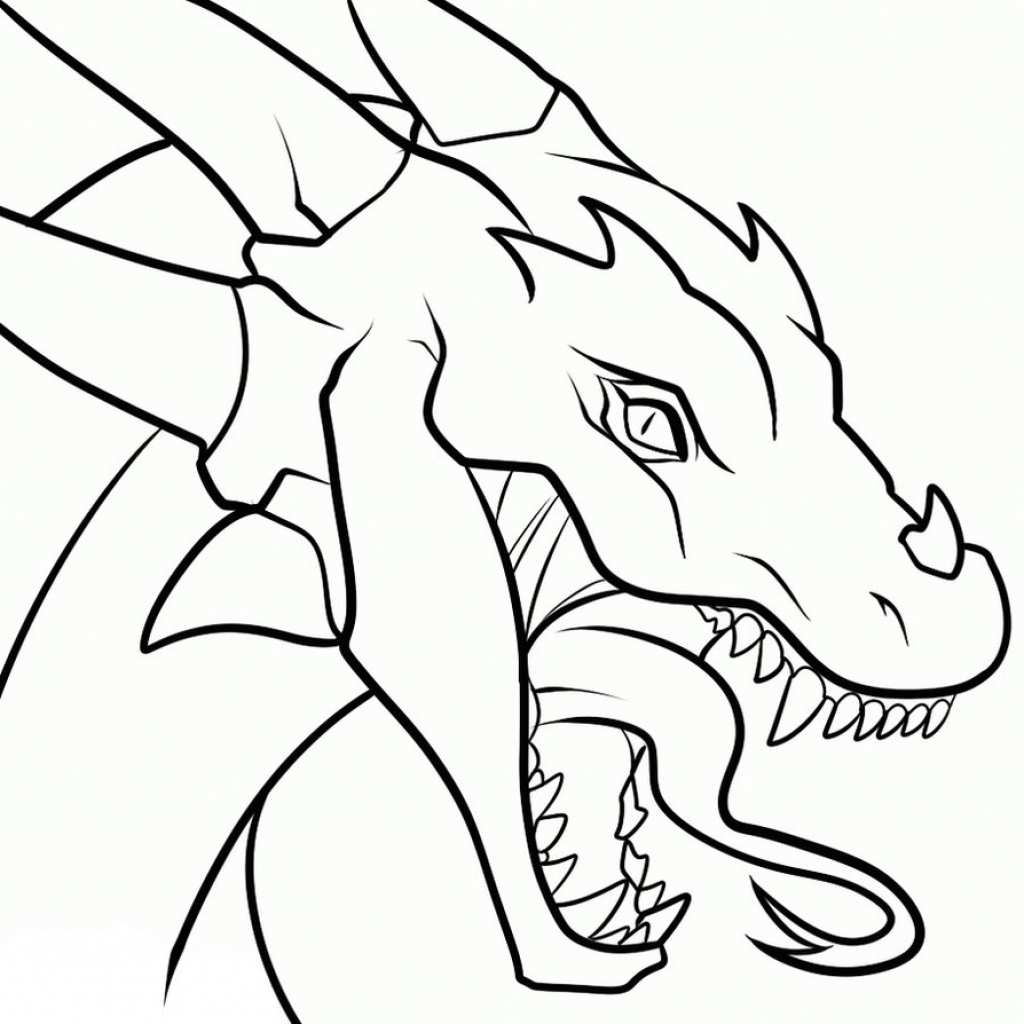 1024x1024 Dragon Drawing Simple