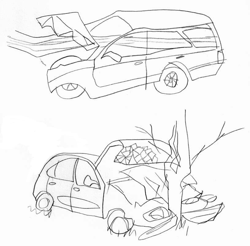 815x800 Famous Car Accident Drawing Images