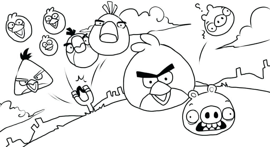 1024x559 Angry Bird Coloring Page Birds