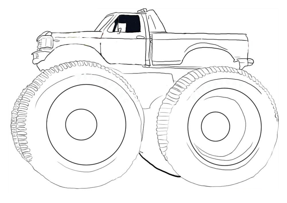 1000x708 How To Draw Monster Trucks Many Interesting Cliparts