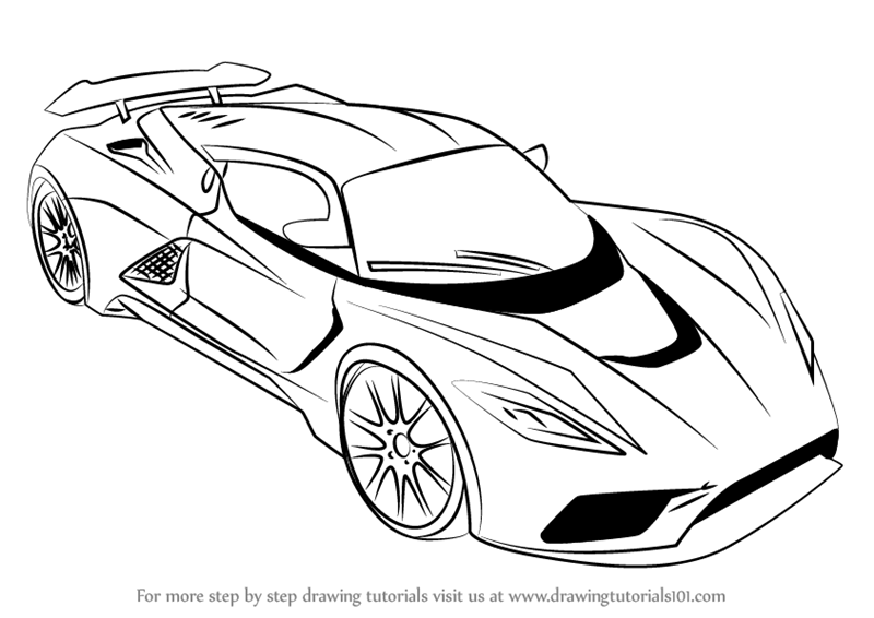 800x566 Learn How To Draw Venom F5 (Sports Cars) Step By Step Drawing