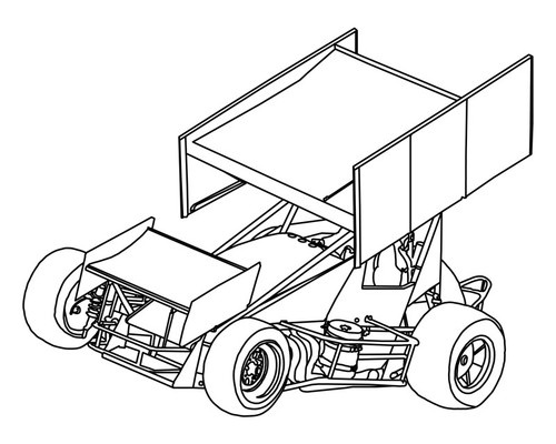500x400 How To Draw A Dirt Sprint Car Step By Step