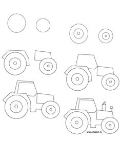236x314 How To Draw A Tractor, Step By Step. (Art, Kids, Drawing Lesson