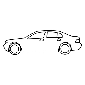 300x300 Pictures Car Outline Printable,