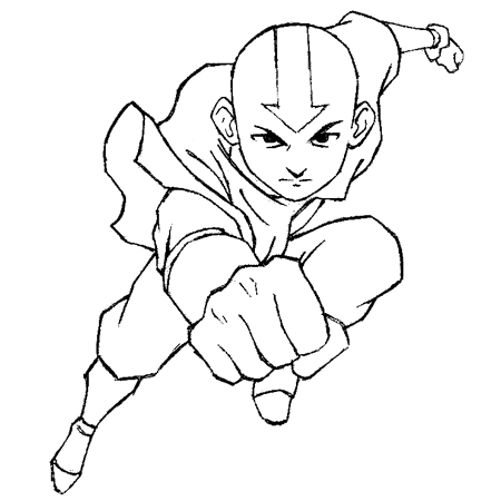 450x450 How To Draw Aang From Avatar The Last Airbender Drawing Lesson