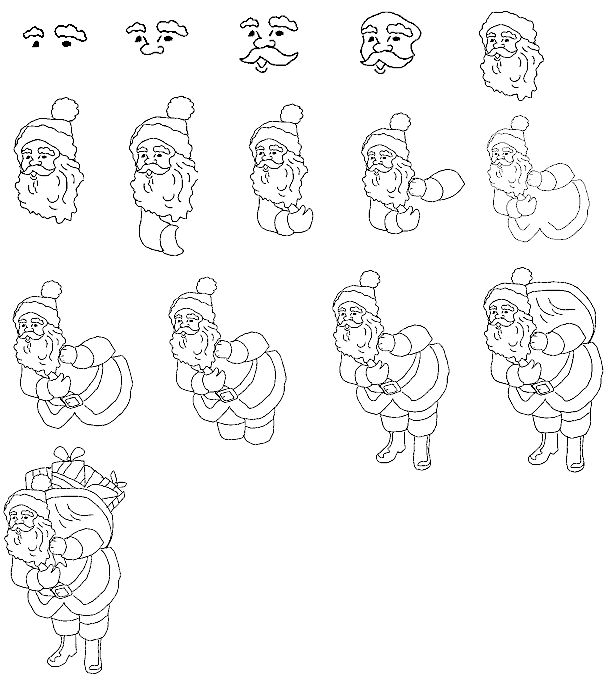 Step By Step Drawing Christmas Pictures
