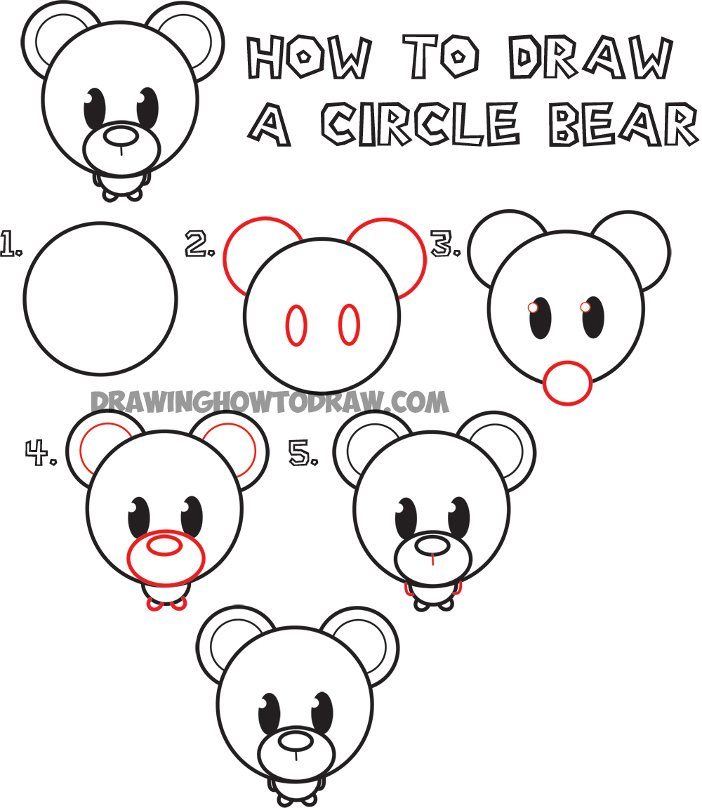 1000x1151 Big Guide To Drawing Cute Circle Animals Easy Step By Step Drawing
