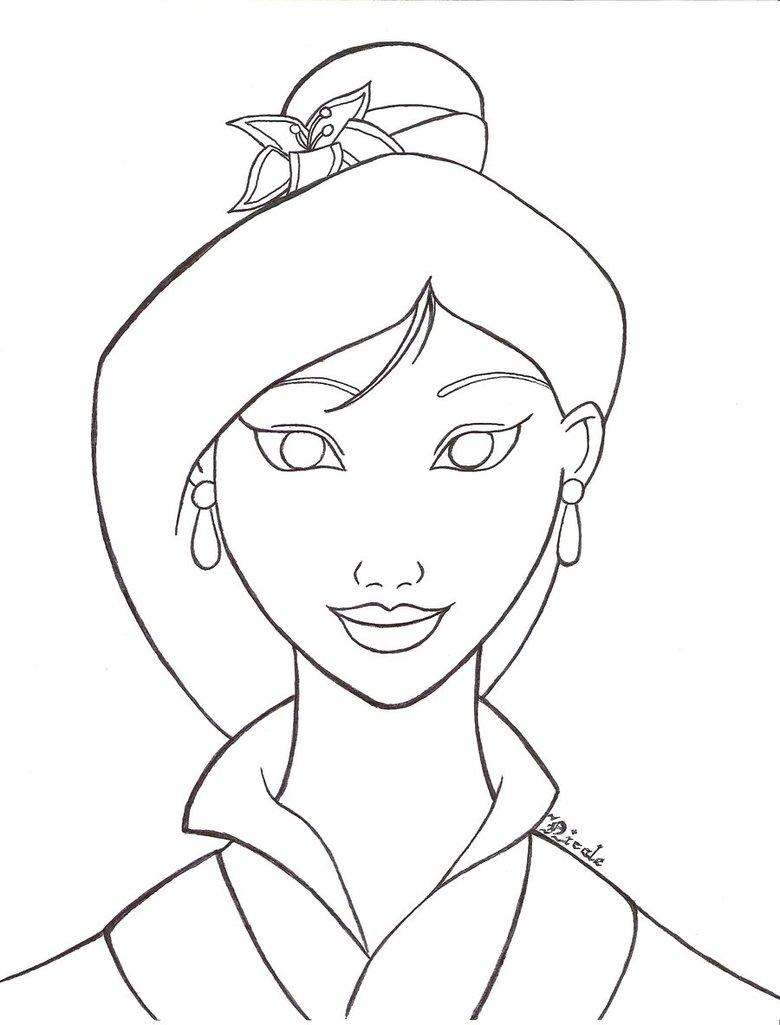 780x1025 Drawn Princess Mulan