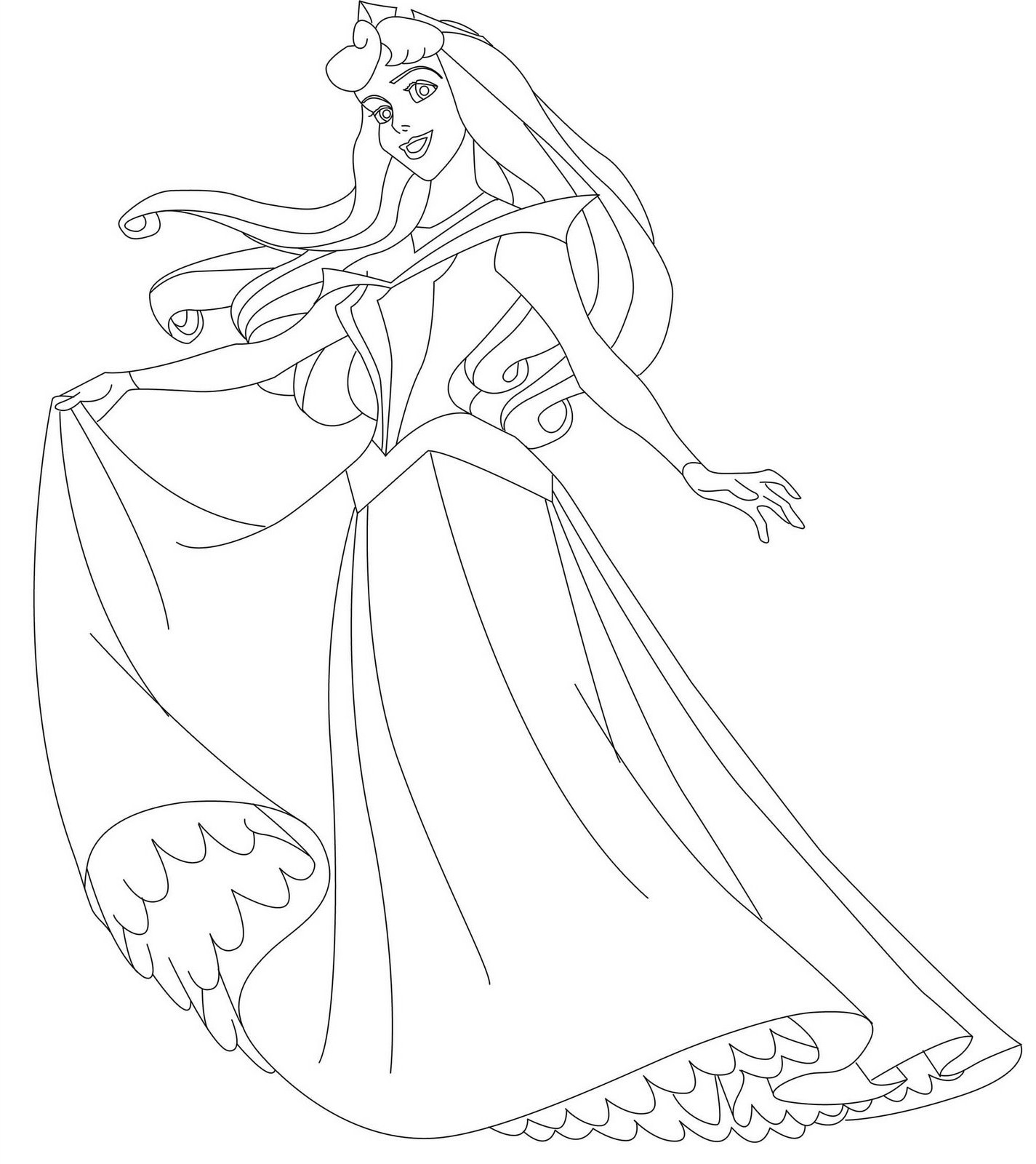 1425x1600 Sleeping Beauty With Prince Coloring Pages For Kids Inspirational