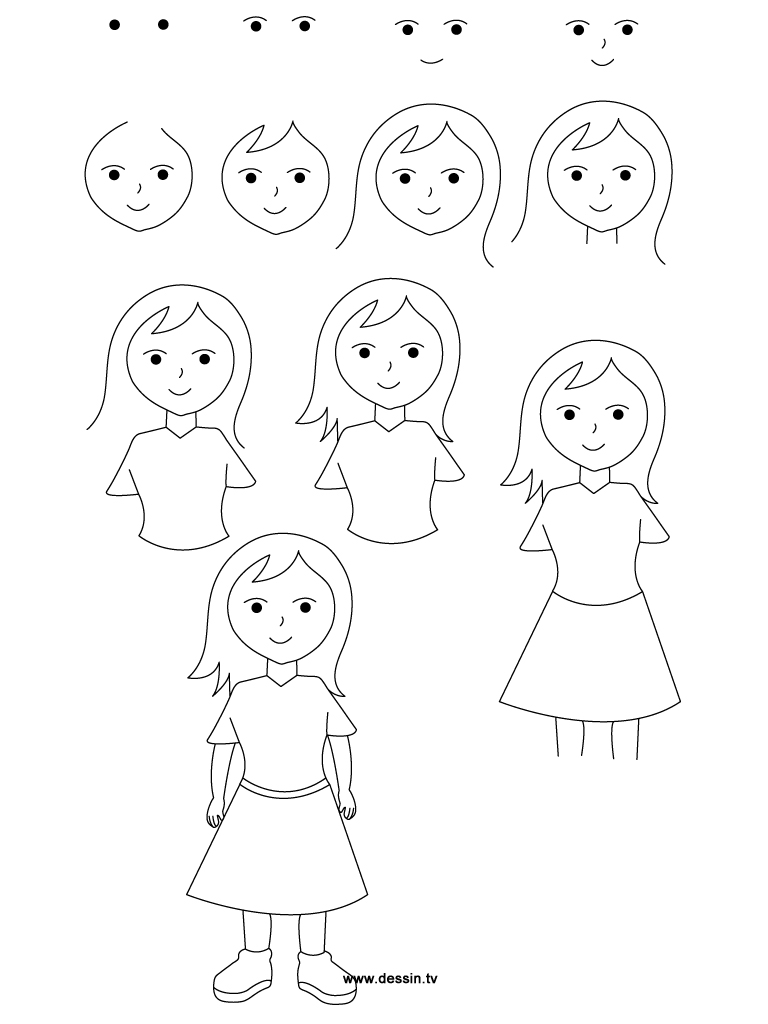 Step By Step Drawing For Girls at GetDrawings com | Free for