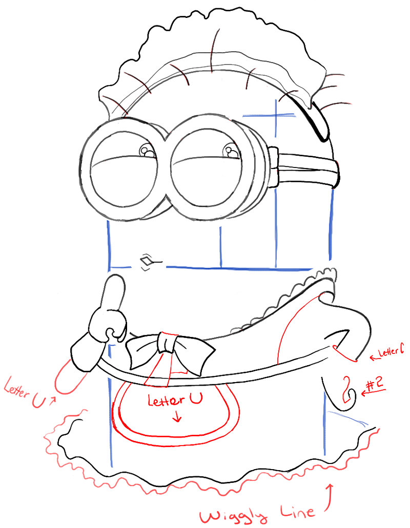 800x1031 How To Draw Phil The Minion Dressed Up As A Maid From Despicable
