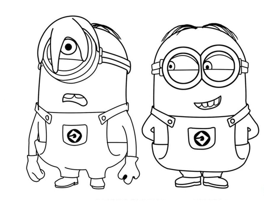 891x686 Cool Minion Drawing Minion Haciendo Una Broma A Otro Minion