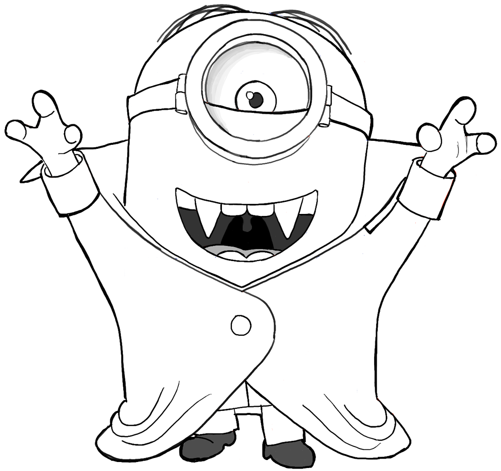 1000x940 Finished Drawing Of Stuart, The Minion, As A Vampire Halloween