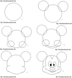 Step By Step Drawing Of Mickey Mouse
