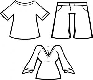 302x260 How To Draw How To Draw Clothes For Kids