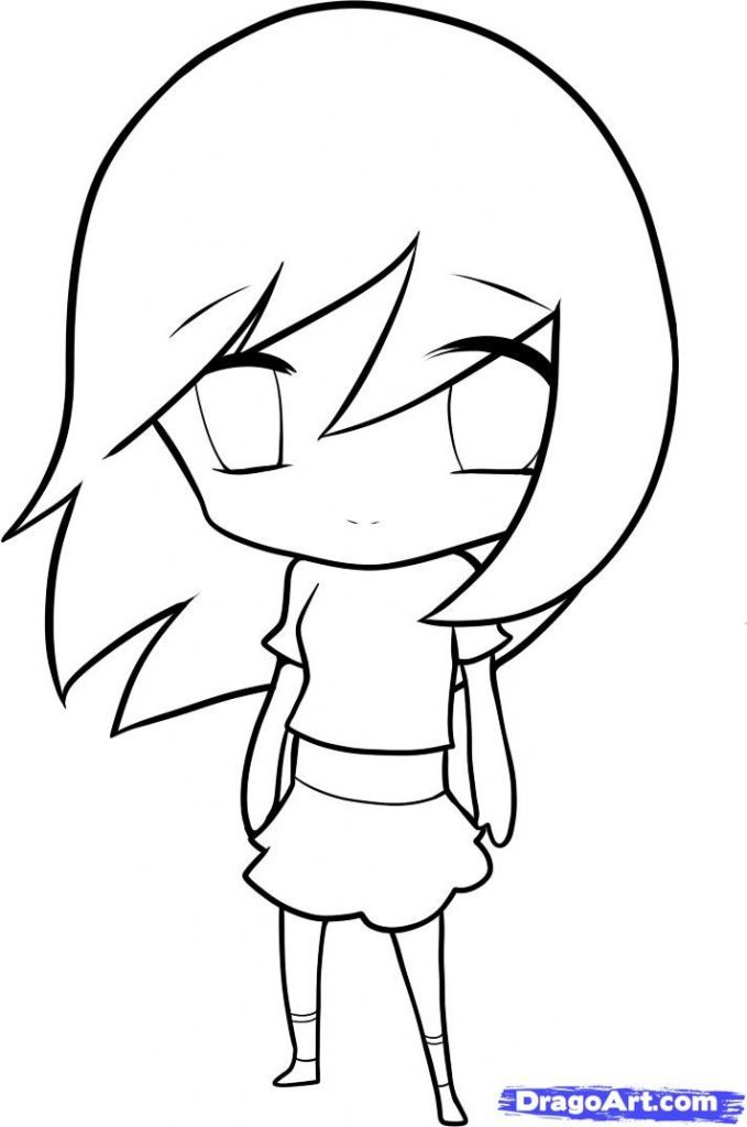 679x1024 How To Draw Anime For Kid Beginners How To Draw An Anime Girl Step