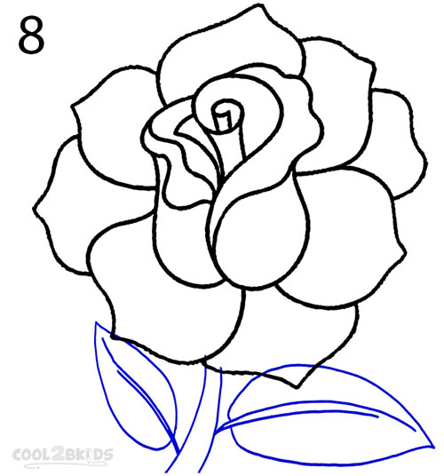 500x536 How To Draw A Realistic Rose (Step By Step Pictures) Cool2bkids