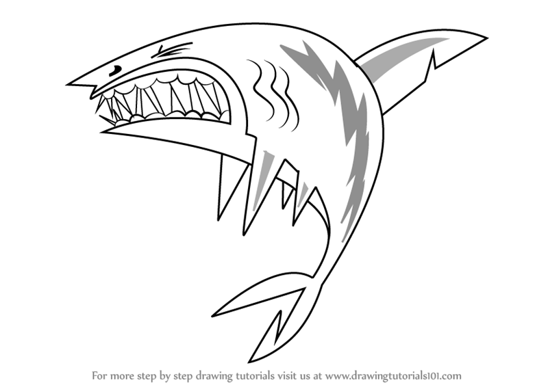 800x566 Learn How To Draw Shark From Total Drama (Total Drama) Step By