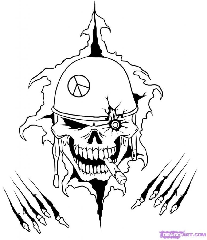 Military Skull Designs