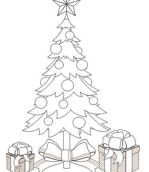497x576 How To Draw A Christmas Tree With A Pencil, Step By Step Photos