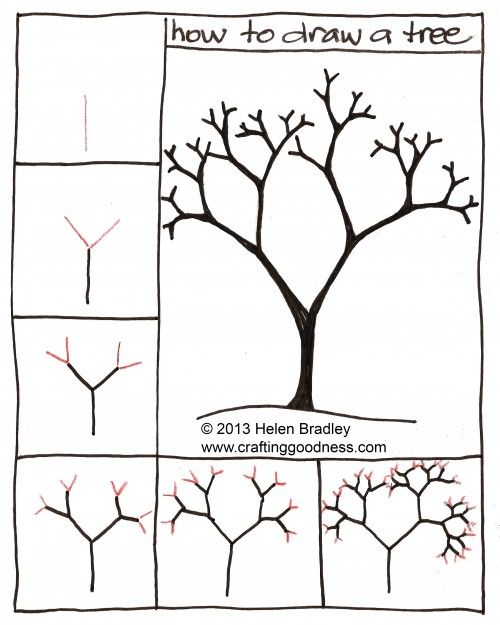 500x625 How To Draw A Tree Step By Step. This Tutorial Makes So Much Sense