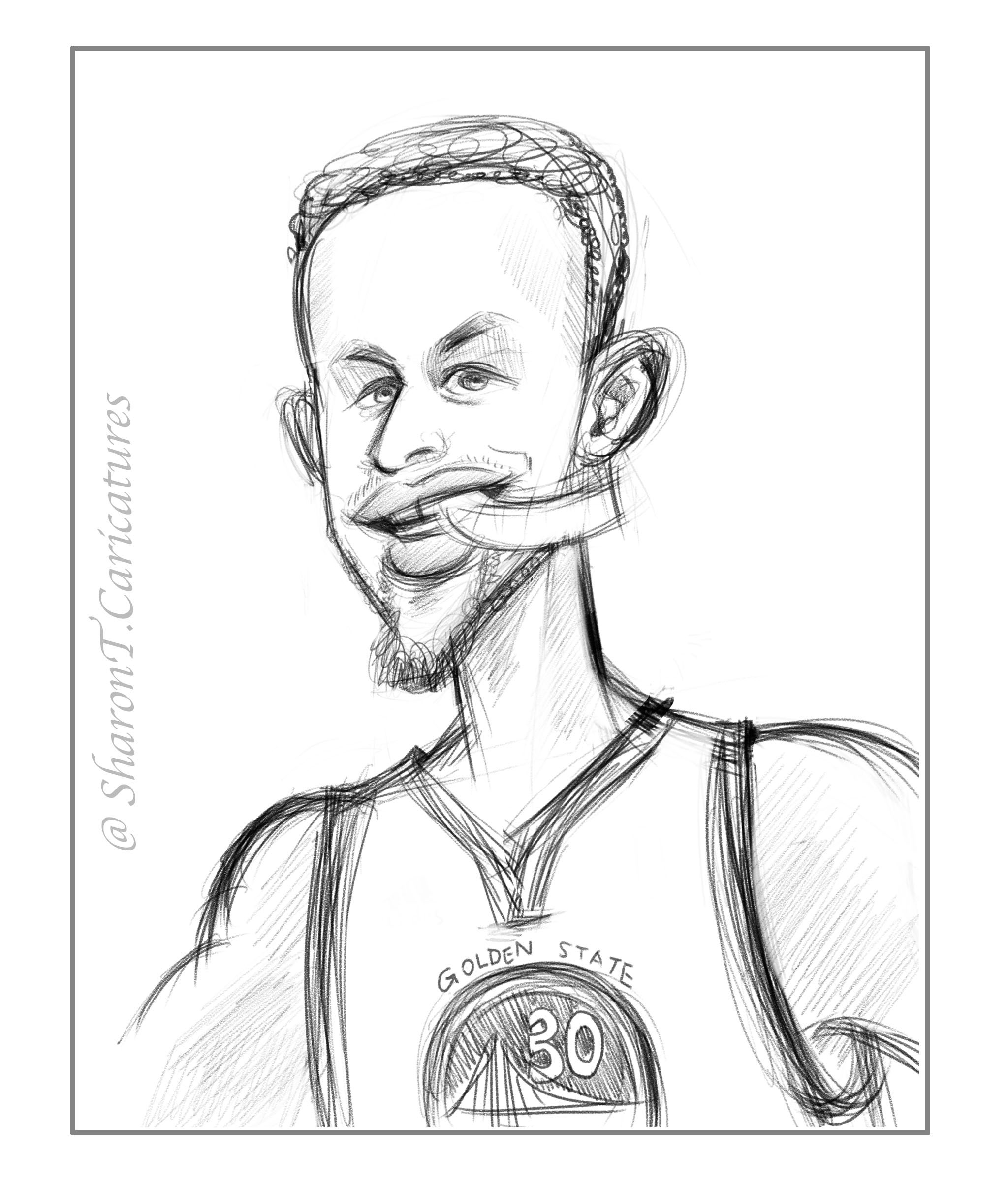 2048x2407 Sketch Of Today Stephen Curry Sharon T. Caricatures
