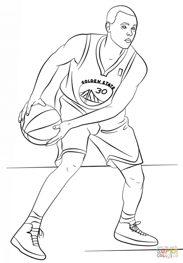 625x900 Stephen Curry Coloring Pages Coloring Stephen Curry Basketball