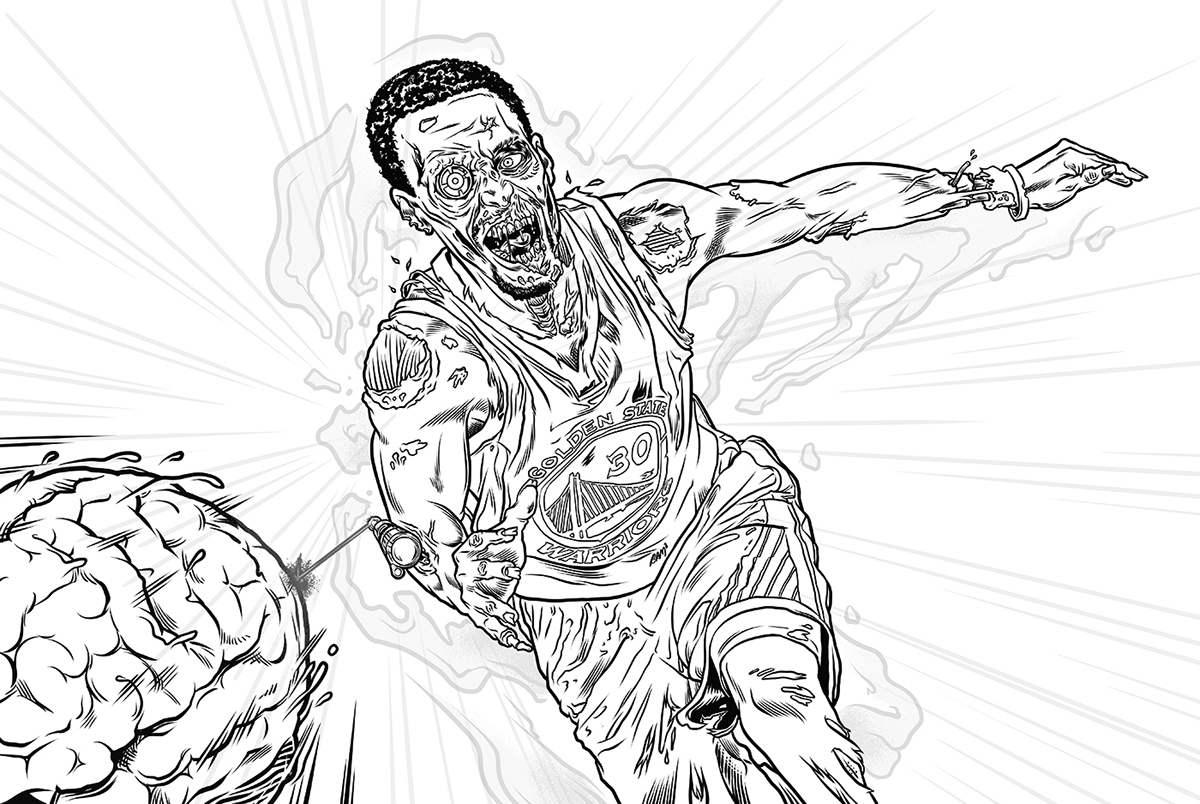 1200x804 Stephen Curry The Zombie Sniper On Behance