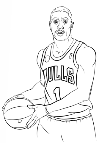 333x480 Derrick Rose Coloring Page Free Printable Coloring Pages