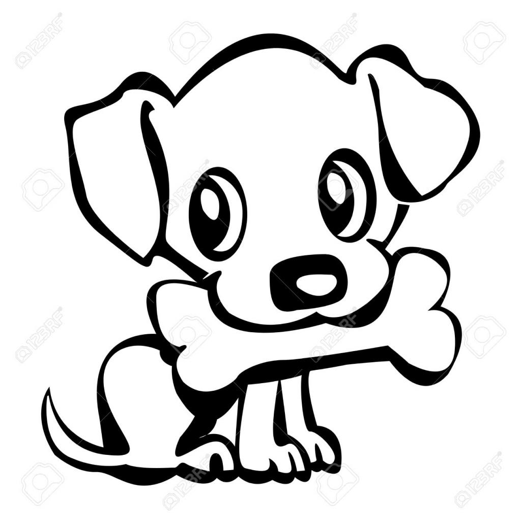 1024x1024 Cartoon Puppy Drawing Cartoon Puppy Drawing Exquisite Puppy