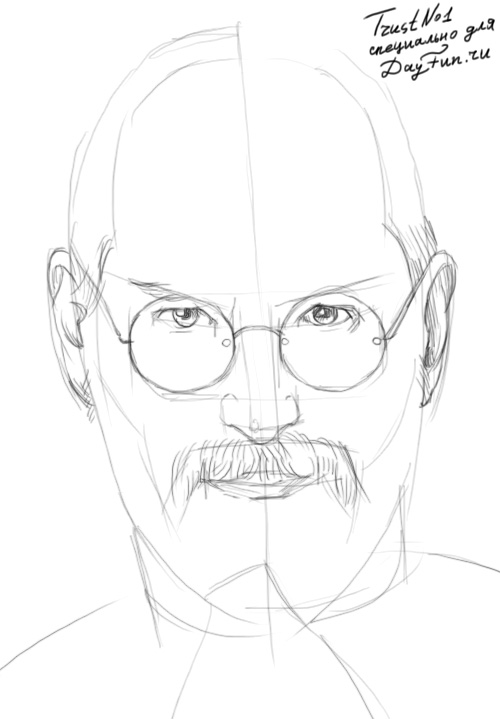 500x719 How To Draw Steve Jobs