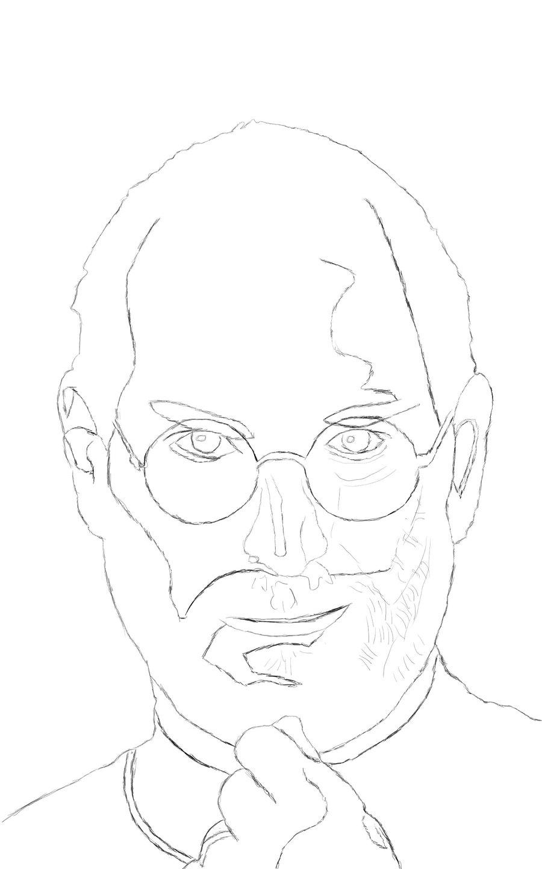 900x1440 Steve Jobs Airbrush Contour By Beastlydigital