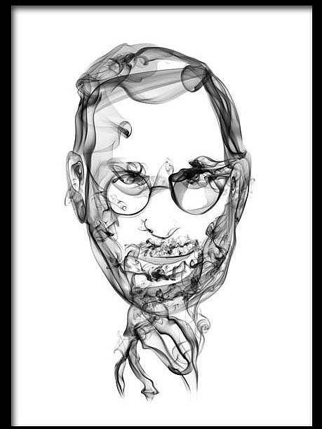 459x612 Artgallery Chennai Splatter Studio Smoke Portrait Steve Jobs