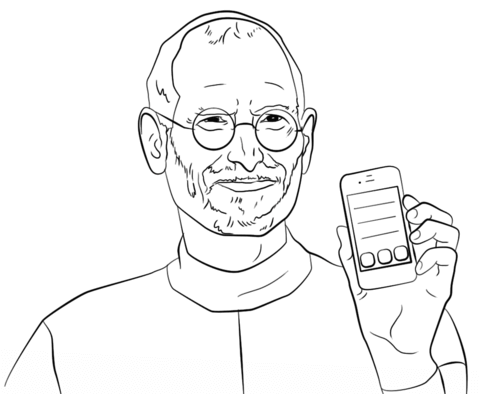 480x394 Steve Jobs Coloring Page Free Printable Coloring Pages